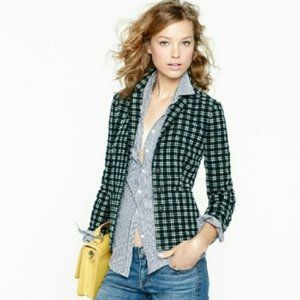 J. Crew Cotton Plaid Shrunken Blazer